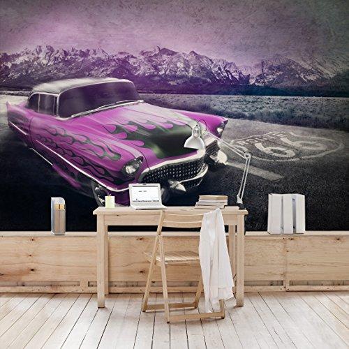 fotomural-nobp13-route66-cadillac-mural-apaisado-papel-pintado-fotomurales-murales-pared-papel-para-