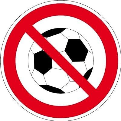 Verbotszeichen - Fußball spielen verboten - Aluminium Selbstklebend