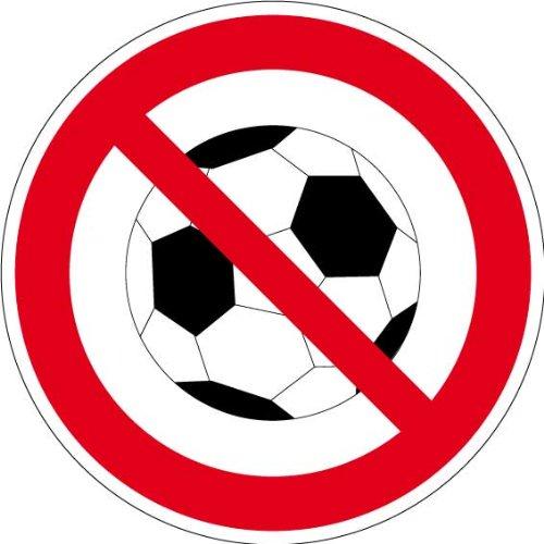 """Verbotsschild """"Ballspielen verboten"""" aus Aluminium - in verschiedenen Größen erhältlich"""