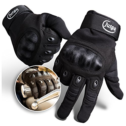 jutgo Herren Handschuhe Outdoor Full Finger Radfahren Motorrad Handschuhe, X-Large