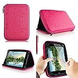 casezilla A2017,8cm Mid Apad ePad Netbook Tablet Universal EVA Hartschale Folio Tablet Fall, cute pink, ALDI MEDION LIFE TAB E7318