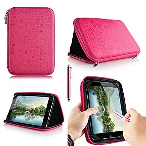 casezilla A2017,8cm Mid Apad ePad Netbook Tablet Universal EVA Hartschale Folio Tablet Fall Cute Pink Samsung Galaxy Tab 3 Kids Tablet