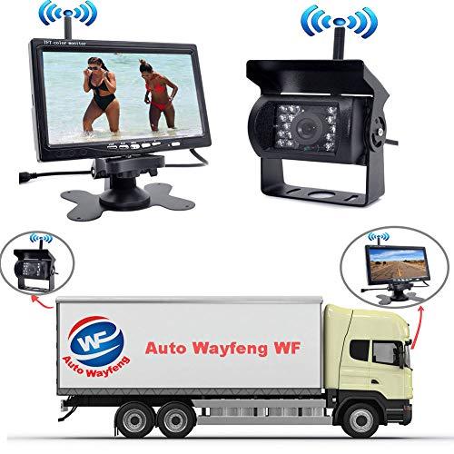 Herchr Wireless IR Rückfahrkamera Nachtsichtsystem + 17,8 cm Monitor für Wohnmobil/LKW