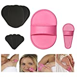 TEEROVA Portable Exfoliating Hair Removal Pads Set for Smooth Skin on Legs Arm Face Top Lip Pink