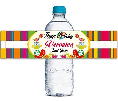 Kinder Geburtstagsparty benutzerdefinierte Etiketten wasserdicht Wasserflasche Aufkleber personalisiert 8