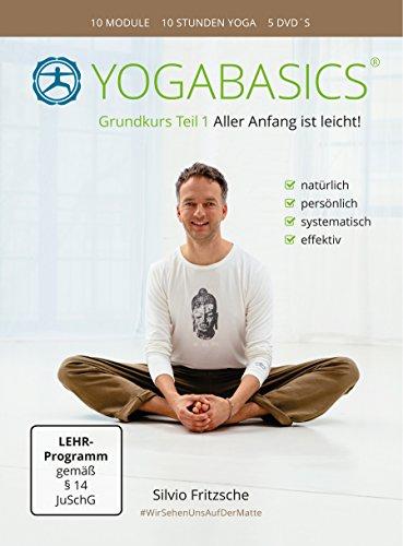 YOGABASICS Grundkurs Teil 1: 10 Stunden Yoga für Anfänger (5 DVDs + Ebook + Online-Zugang)