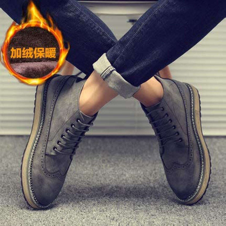LOVDRAM Men's Leather scarpe Fashion Men's scarpe Fashion scarpe scarpe scarpe Men's Casual scarpe Brock Breathable scarpe,Thick... | Più pratico  0c39f2