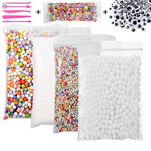 8af10138c0e950 Kit de fabrication de balles en mousse Slime, Tootaci Big Bag, Blanc,  colorées Balles en mousse de polystyrène pour Slime 0,08–0,9 cm avec des  outils de ...