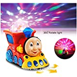 MousePotato Bump & Go Toy Train With 4D Lights And Music (Assorted Colour)