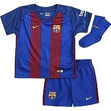 Nike Fcb Inf Hm Kit Equipación Línea F.C. Barcelona, Niños, Blanco (Sport Royal / Gym Red / University Gold), 6-9 meses