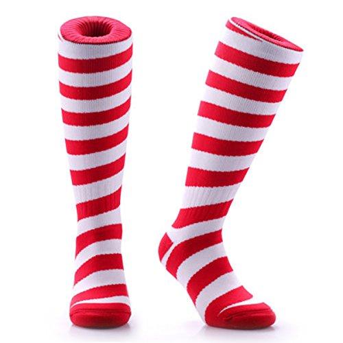 Samson Hosiery® CHRISTMAS SOCKS COSY & WARM für Fußball Futsal Rugby Hockey Socken für Kinder Damen Herren Colorful Gr. S, Mehrfarbig - Candy Cane