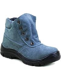 Fuxitoggo Mens-Stahlzehen-Sicherheitsschuh-Durchbohren beständige  Antistatische Schweißer-Schuhe (Farbe   e3253e0acc