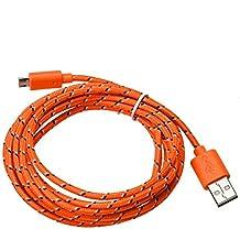 Tongshi 3M / 10FT cargador micro USB cable de sincronización Cable de datos para el teléfono celular (naranja)