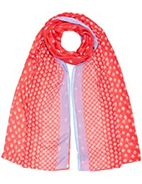 Womens Butterfly and Bee Sequin Scarf, Off-White (Ivory Nat), One Size Fat Face