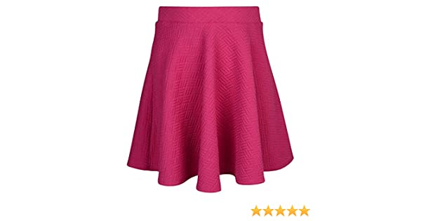 Ex UK Store Girls Skater Skirt Textured Pleated Rio Pink