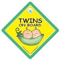 Twins On Board, Twins on board car sign, Peapod, Twins On Board Sign, Unisex Baby on Board Sign, Unisex Twins On Board Sign, Baby Safety Sign, Baby on Board Sign, baby on board, Twins On Board Sign, Baby Car Sign, Twins Car Sign, Baby Safety Sign, Twin Car Signs
