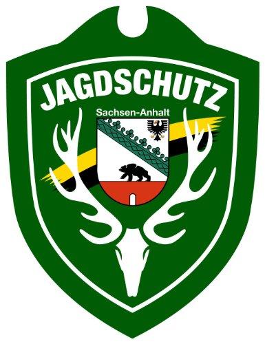 Waidmannsbruecke Unisex- Erwachsene Jagdschutz Sachsen-Anhalt Autoschild, Grün, One Size