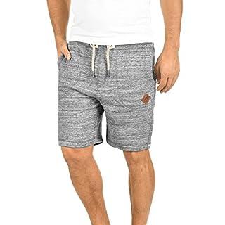 !Solid Aris Herren Sweatshorts Kurze Hose Jogginghose Mit Melierung Und Kordel Regular Fit, Größe:L, Farbe:Light Grey Melange (8242)