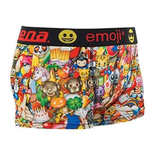 Athena Multi Emoji Lustige Herren Boxershort Unterhose Motiv im Emoji Look mit hohem Geschenkidee, Scherzartikel zu Weihnachten oder Geburtstag (XL)