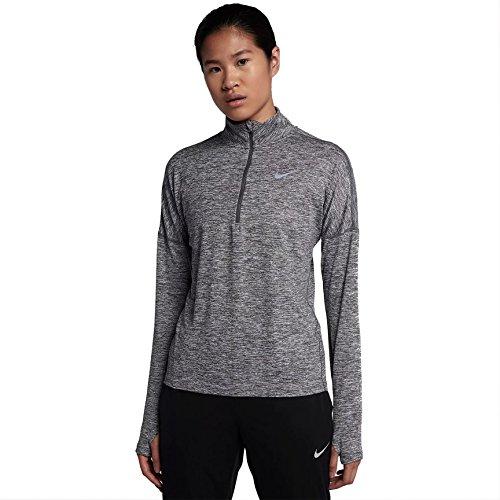 Nike 855517 T-Shirt Femme, Noir Gris foncé/Chiné