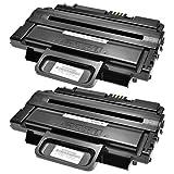 2 Toner kompatibel für Samsung MLTD-2092L für Samsung ML-2855ND SCX-2855 SCX-4825FN SCX-4824FN SCX-4828FN - MLT-D2092L/ELS - Schwarz je 5.000 Seiten