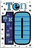 Geburtstagskarte für zehn (10) Jahre alten Jungen–Kostenloser 1st Class Post (UK)