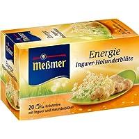 Meßmer Energie, Ingwer-Holunderblüte 20 TB, 2er Pack (2 x 40 g Packung)