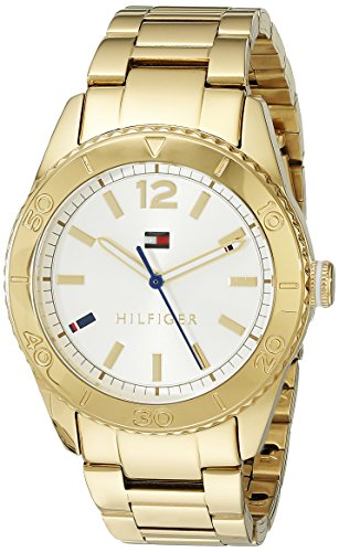 Tommy Hilfiger Women's 1781268 Casual Sport Analog Display Quartz Gold Watch image