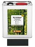 Asuso Holzlasur Ebenholz 25 Liter Holzschutz UV-Schutz Außen