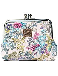 Generic Women Floral Exquisite Clasp Coin Purse Cards Case Flowers Print Wallet For Girls (SH03)