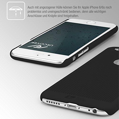 Original Urcover® Apple iPhone 6 Plus / 6s Plus Hülle Loopee Handyhülle [Schwarz] Kunststoff Cover Case Etui Schutzhülle für TOP Handyschutz Schwarz