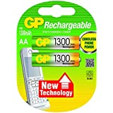 GP Batteries 120130AAHCC2 Pack de 2 Piles AA/HR06/1,2 V/1300 mAh