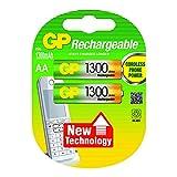 GP Batteries 120130AAHCC2 Pack de 2 Piles AA/HR06/1,2 V/1300 mAh