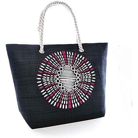 Bolso de verano ligero con estampado azteca para mujer