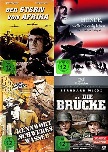 History Collection   Der Stern von Afrika + Kennwort: Schweres Wasser + Die Brücke + Hunde wollt ihr ewig leben? [4-DVD]