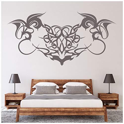 azutura Gothic wirbelt Wandtattoo Dekoratives Kopfteil Wand Sticker Schlafzimmer Haus   Dekor verfügbar in 5 Größen und 25 Farben Groß Moos Grün -