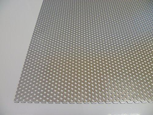 B&T Metall Aluminium Lochblech 1,0 mm stark Rundlochung Ø 3 mm versetzt RV 3-5 Größe 100 x 100 mm (10 x 10 cm)