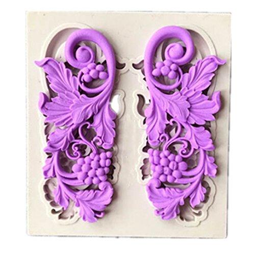 HENGSONG Europäische Blume Spitze Mini Silikonform Kuchenform DIY Fondant Süßigkeiten Schokolade Form Backen Formen Dekorieren (Stil 1)