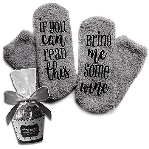Wein-Socken mit lustigen Worten,If You Can Read This-Funny Zubehör für sie, Geschenk für Frau,Geschenke für Frauen (4)