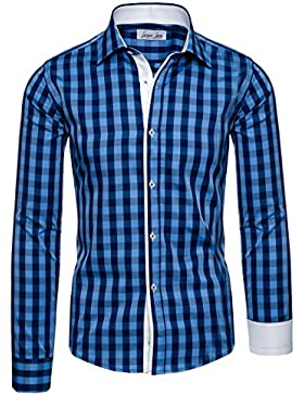 Lorenzo Loren - Camisa casual - con botones - para hombre