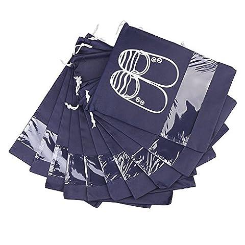 GRD , Sac de rangement pour chaussures bleu marine bleu marine large 44 * 32cm, medium 35.5 * 28cm