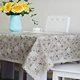 DSAAA Sencillez moderna mantel de PVC transparente de vidrio y suaves sábanas de tela de tapa mesa,Brown 80*140cm