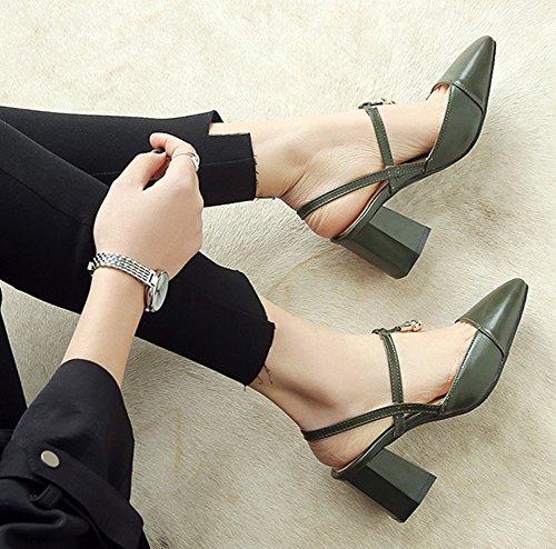 Verde Tacchi Stile I Ha Slingback Donna Aisun Elegante Ivwq0xPng