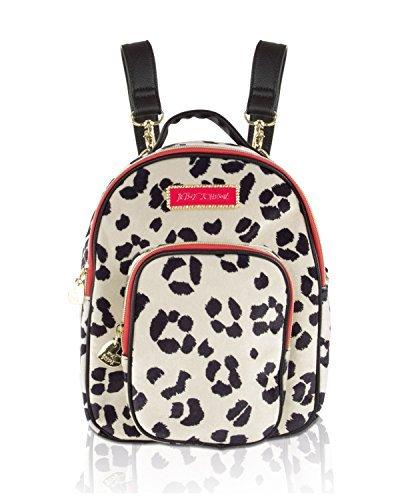 's Velvet Mini Convertible Crossbody Backpack - Cheetah Print (Crossbody Betsey Johnson)