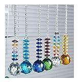 H & D 6pcs Boule de cristal à suspendre Prism Home Feng Shui Pendentif Décoration de...
