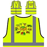 Internet-Shopping E-Commerce online Personalisierte High Visibility Gelbe Sicherheitsjacke Weste g570v