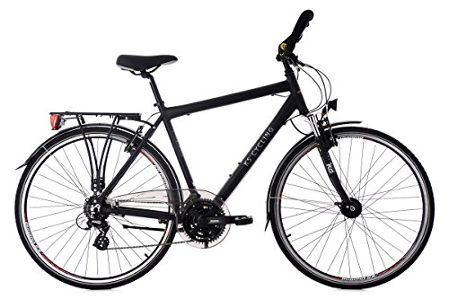 """KS Cycling Trekkingrad Herren 28"""" Norfolk 24Gang schwarz RH56cm Multipositionslenker"""