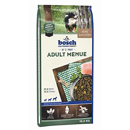 bosch Hundefutter Adult Menü, 1er Pack (1 x 15 kg)