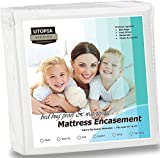 Waterproof Mattress Encasement - Zippered Bed Bug Proof Mattress Cover with Ample Zipper Opening - Mattress Protector, Ultimate Protection Against Insects and Dust Mites (Twin) by Utopia Bedding by Utopia Bedding