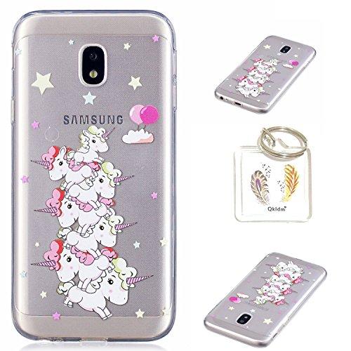Preisvergleich Produktbild Hülle Galaxy J5 2017 (European Version) TPU schutz silikonhülle, niedlichen cartoon bild transparent handy Hülle für Samsung Galaxy J5 2017 SM-J530 (European Version) + schlüsselanhänger (* / 164) (6)
